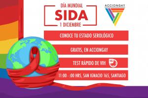EN EL DÍA MUNDIAL DEL SIDA, ACCIONGAY REALIZA CAMPAÑA DE TESTEO MASIVO DE VIH.